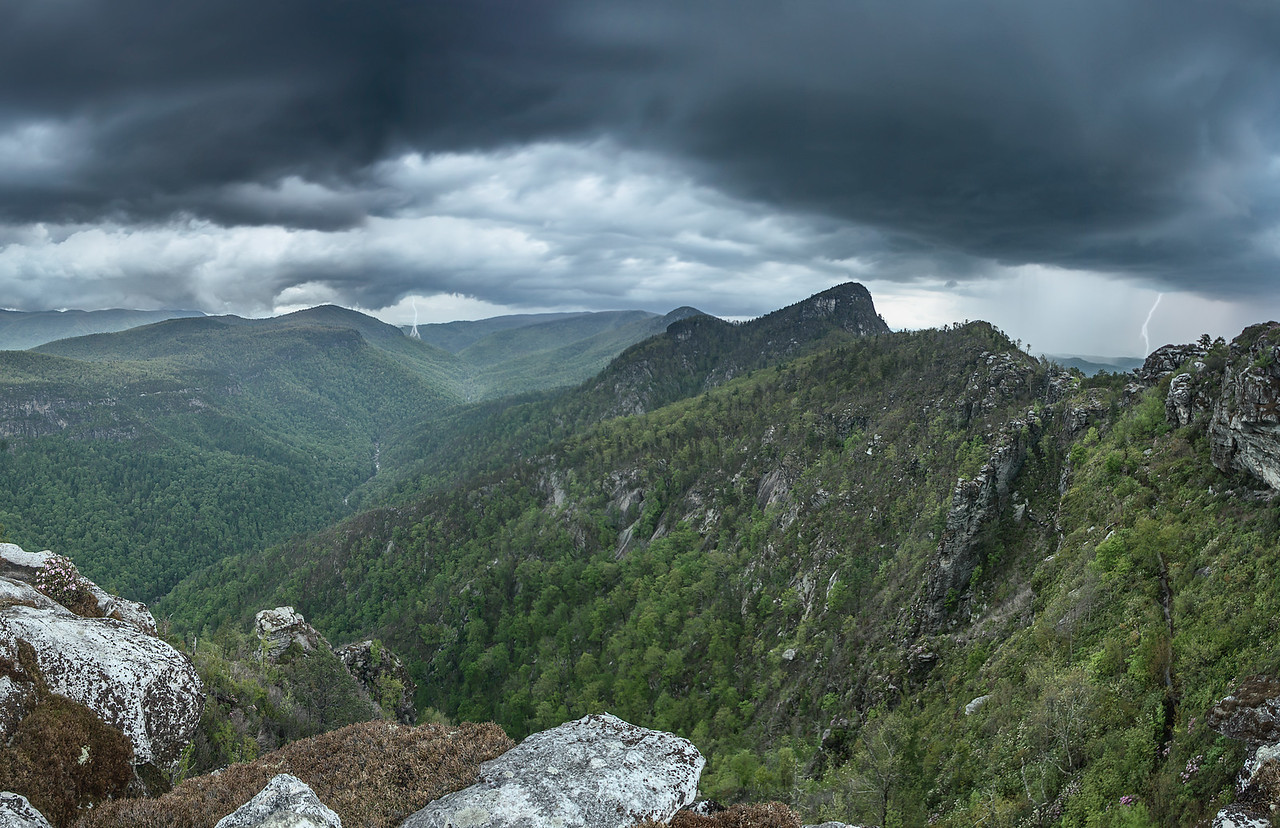 Linville Gorge in the Storm