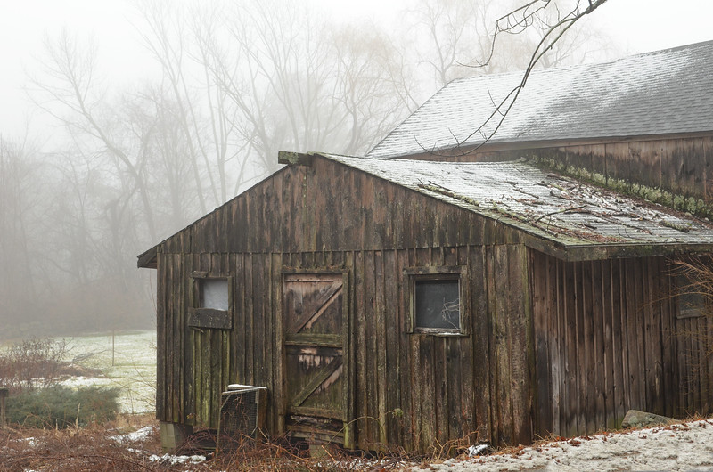 Barn in Fog