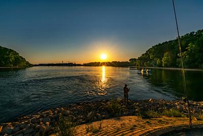 Fishing at sunset...