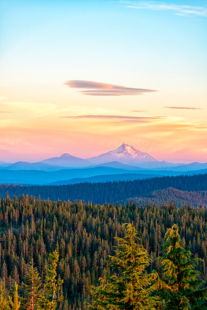 Mount Jefferson Sunset - Tom Dick and Harry Mountain-3