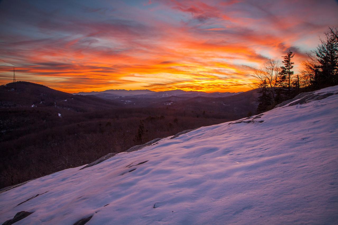 Beacon Heights Snowy Sunset