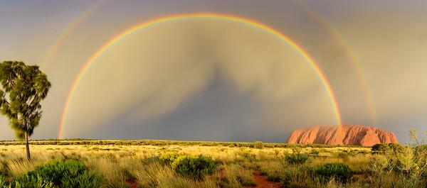 Uluru Double Rainbow