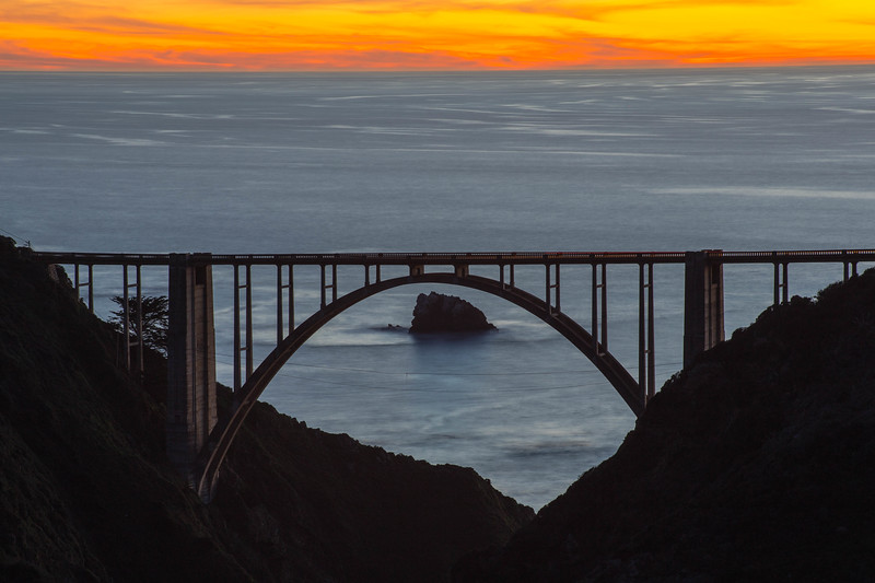 Fiery Skies at Bixby Bridge
