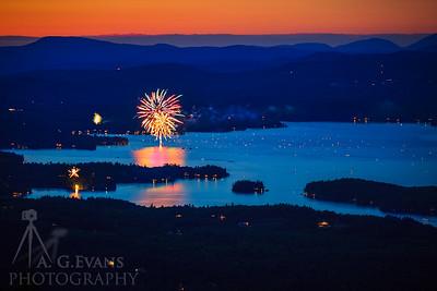 Lake Sunapee Fireworks 2017 2