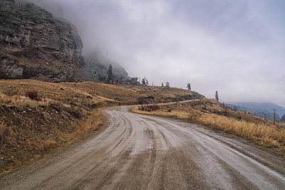 Foggy backroads over Okanagan Falls
