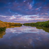 Morning light and clouds reflected in the Bowman's Beach Mangrove Canal, Sanibel Island, Florida