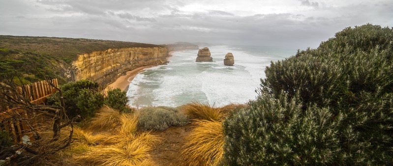 The Twelve Apostles looking east