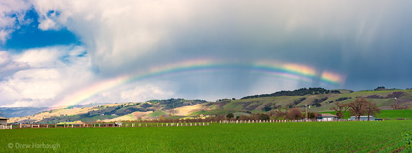 Rainbow over the Garlic Fields of Gilroy