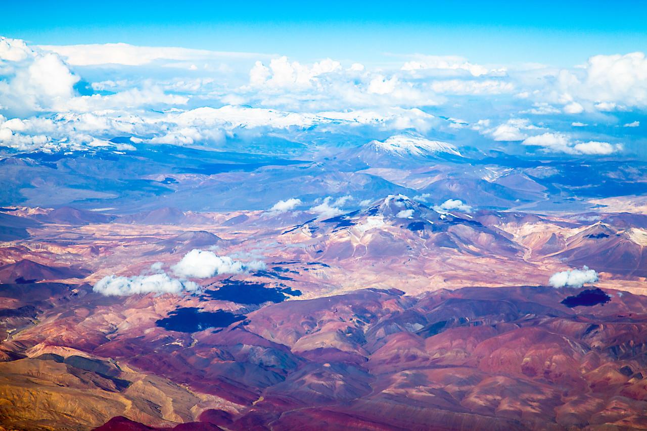 Flying northern Chile Flying into the Atacama desert