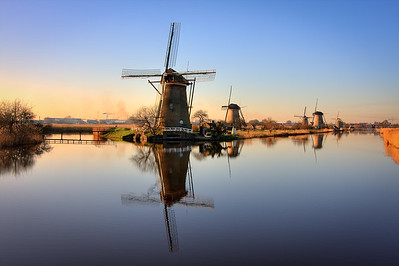 Kinderdijk Windmills. Netherlands