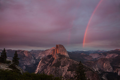 Double Rainbow Over Half Dome