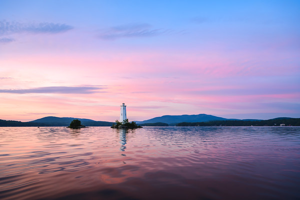 Loon Island Lighthouse Summer Sunrise 2