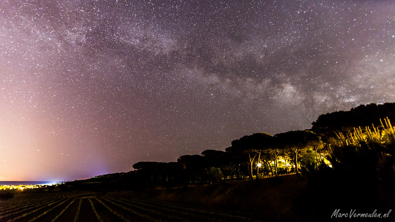 Milkyway above Saint-Tropez, France