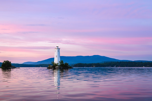 Loon Island & Mount Sunapee Summer Sunrise