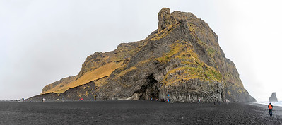 Basalt rock on the south coast of Iceland
