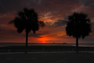 Sunrise at Charleston's Waterfront Park