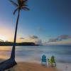 Palm and Chairs at Bolongo Bay, St Thomas USVI