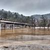 Buffalo River Hwy 14 Bridge at Flood Stage