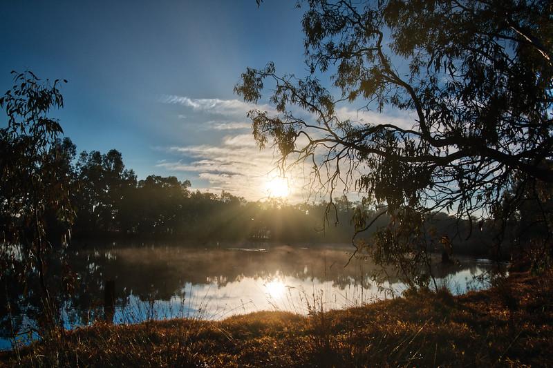 Sun Rays on the Pond