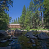 Covered bridge at the Pioneer Center of yosemite National Park