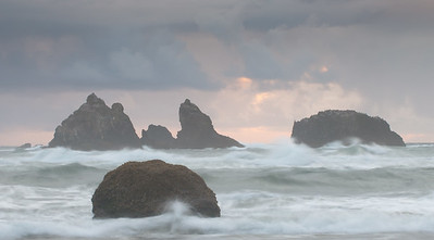 Bandon Beach, OR during a storm