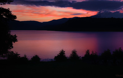 Early Morning Sunrise Over Lake Placid