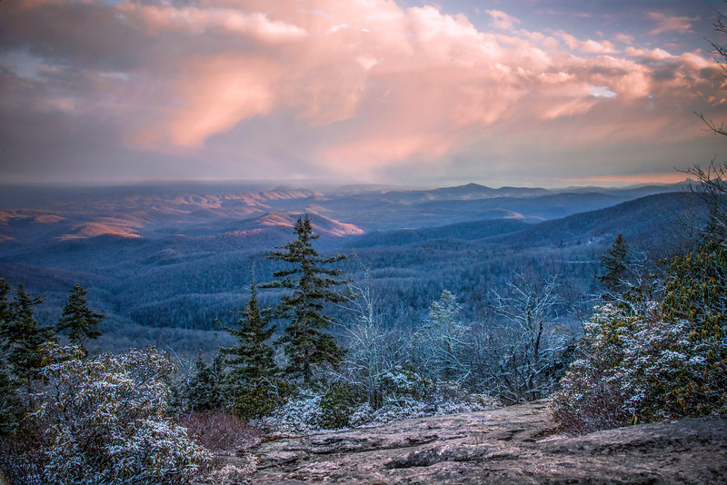 Blue Ridge Mountain Snow