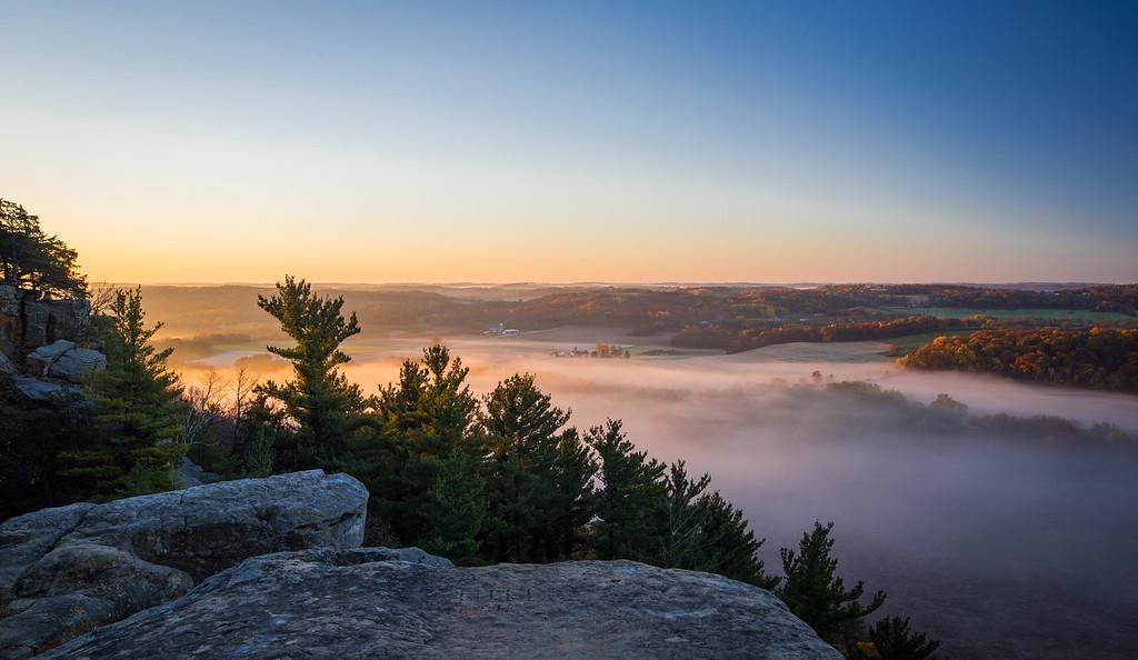 dissipating mist