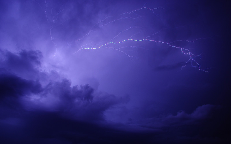 lightning overhead