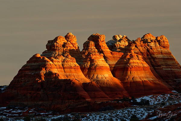 The Setting Sun over Teepees, Coyote Buttes North, Arizona