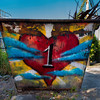 """One Love"" dumpster, St John USVI"