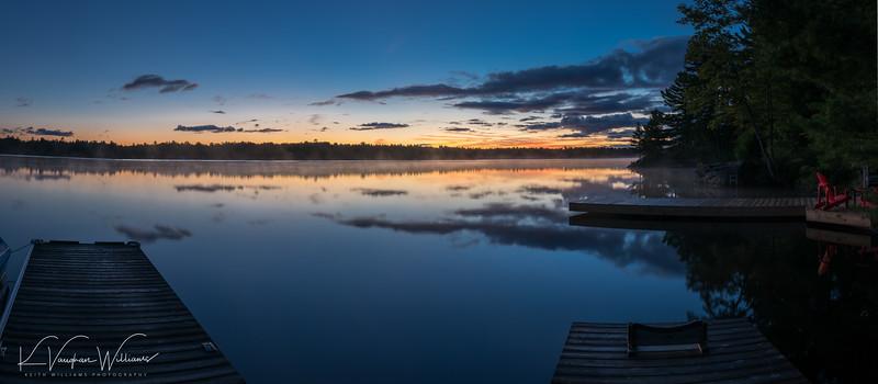 Pre-dawn on Gull Lake