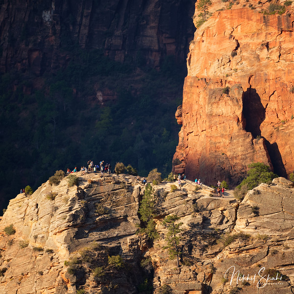 Hikers at the Summit of Angels Landing, Zion National Park