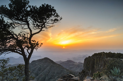 Sunset at the South Rim of the Chisos Mountain, Big Bend