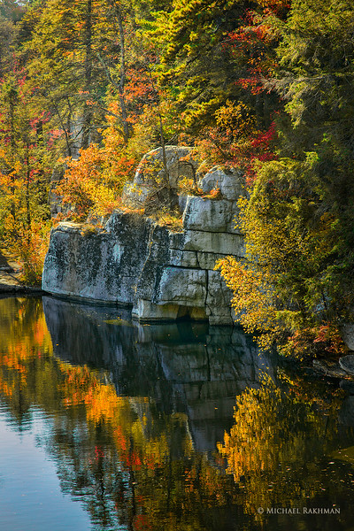 Autumn Colors Over the Cliff