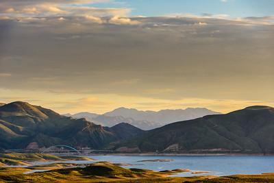 Sunset at Roosevelt Lake