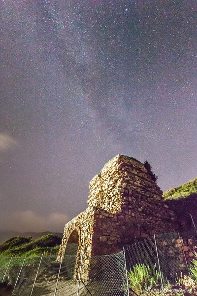 Milky Way above Nisporto, Isola d'Elba