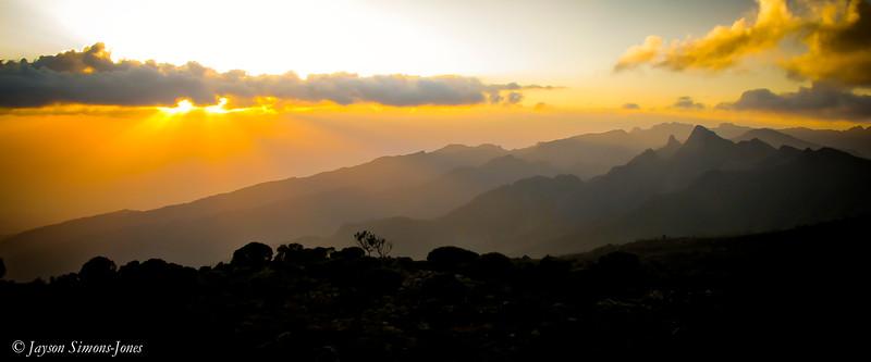 Sunset Mist....Mt Kilimanjaro, Tanzania Africa