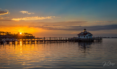 Roanoke Marshes Light Sunrise