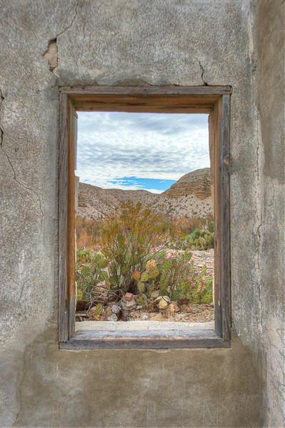 Window overlooking the Rio Grande River, Big Bend National Park, Texas