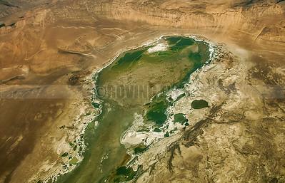 A1:Tso Kar Lake as seen from the air just before landing at Leh