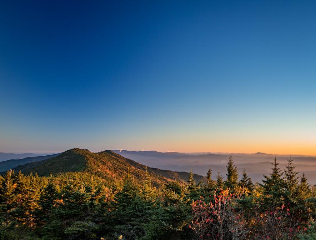 mount mitchell sunrise