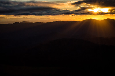 Sunrise on Max Patch Mountain