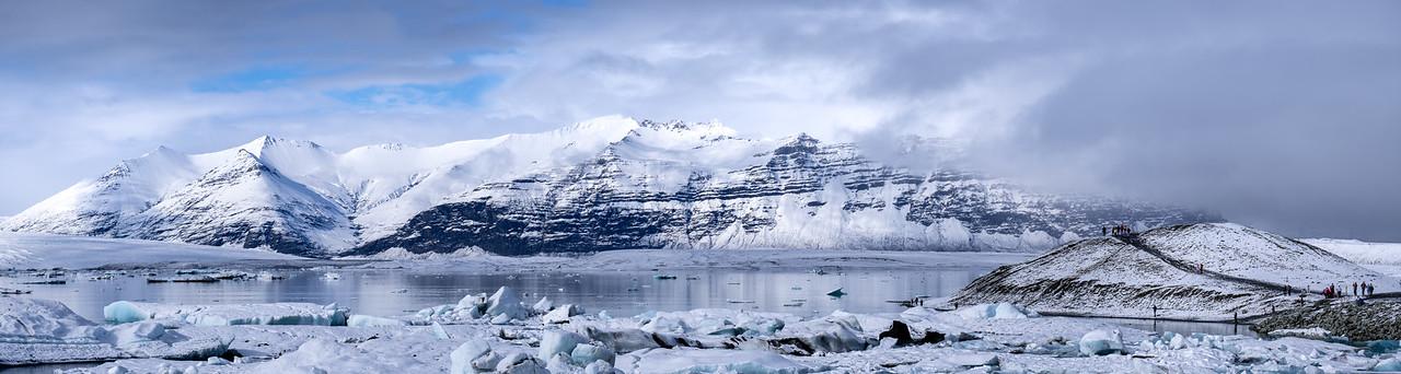 Jökulsárlón Glacier Pano - Iceland Tour 2018