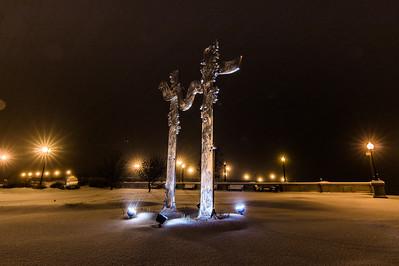 Cedar River Sculpture - Cedar Falls, IA
