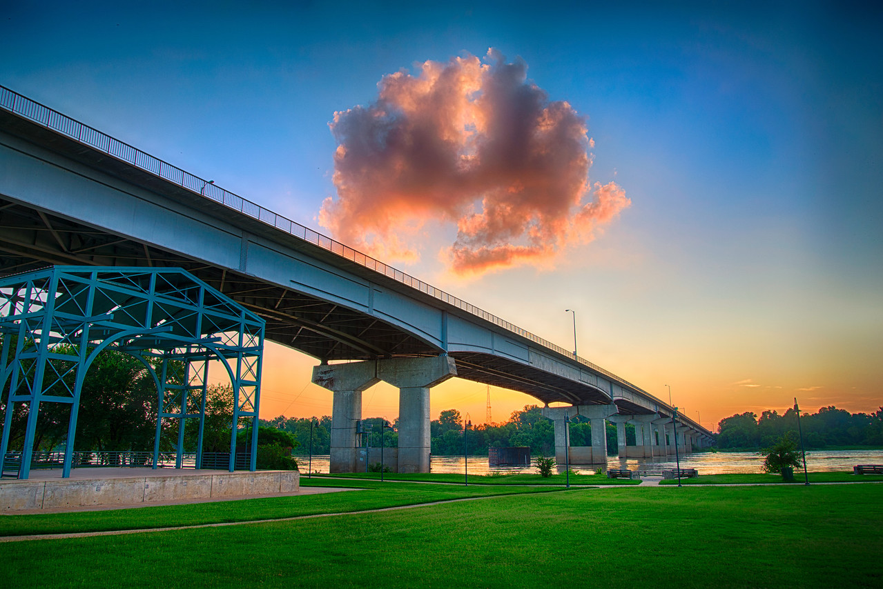 Garrison Avenue Bridge Sunset