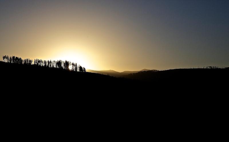 Sunrise over Yellowstone.  Montana