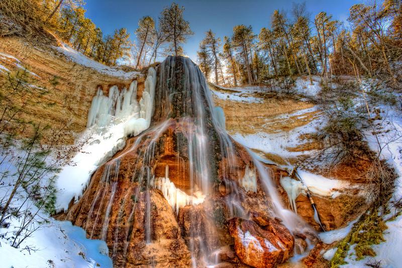 Smith Falls near Valentine, Nebraska in January