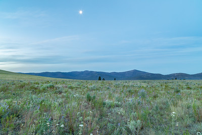 Twilight Moon near Omak Mountain
