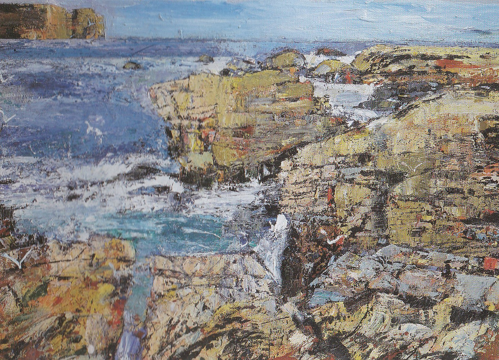 Peter McLaren, Skipi Geo, Orkney. Oil on Board, 66 x 48 inches.